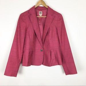Anne Klein Blazer Jacket Pink Size 8